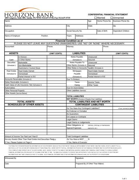 images  financial worksheet form