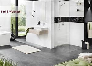 Badezimmer Fliesen Grau Weiß : inspiration bad wellness iga die welt der fliesen ~ Watch28wear.com Haus und Dekorationen
