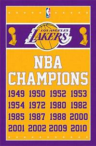 Los Angeles Lakers Champions 13 Wall Poster