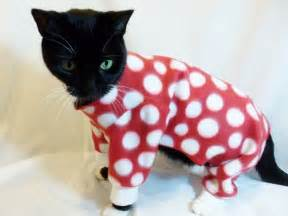cat s pajamas cat pajamas cat clothes polkadot fleece cat by