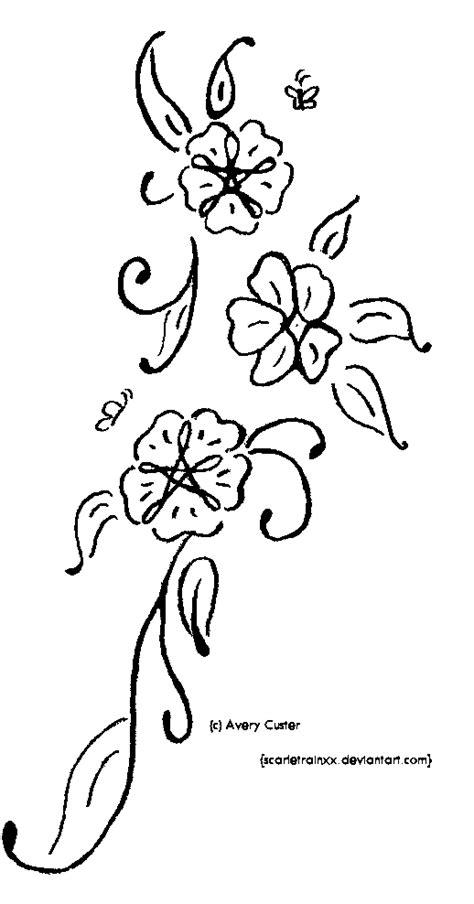 flower vine tattoo  scarletrainxx  deviantart