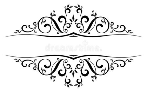vector floral accent stock vector illustration  black