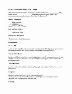 sample music contract images musical performance With musicians contract template