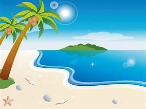 Cartoon Beach Wallpaper - Cartoon Wallpaper