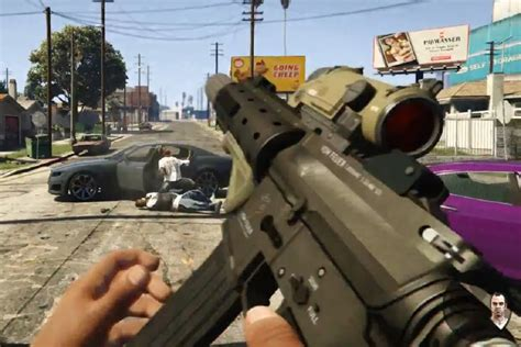 grand theft auto   person mode gameplay video ps