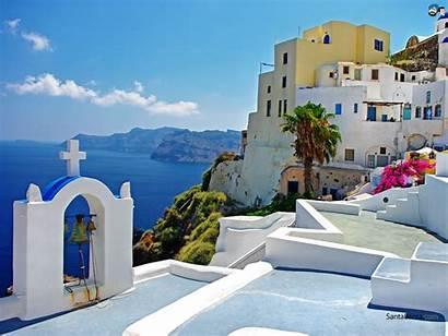 Places Wallpapers Greece Santorini Countries Santabanta
