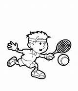 Tennis Coloring Pages Sports Drawing Printable Player Play Racket Sport Colouring Drawings Sheets Sketch Print Easy Getdrawings Bulletin Court Uteer sketch template
