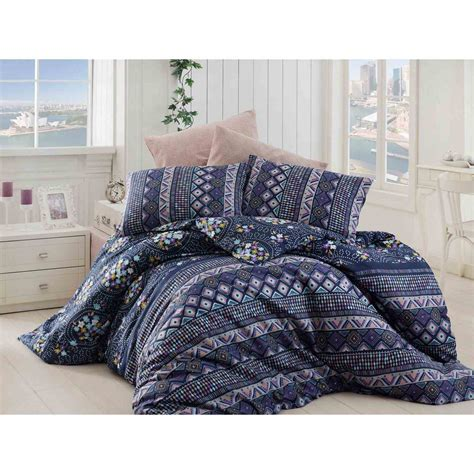 parure de lit bleu nazenin home parure de lit bleu marine brandalley
