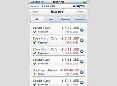 PayPal for iPhone update adds full mobile history access