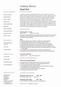 head chef resume templates examples job description With chef job description resume
