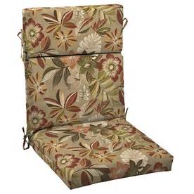shop garden treasures wendelin standard patio chair cushion at lowes