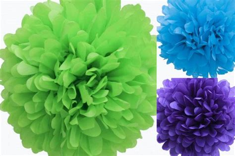6 Tissue Poms Toy Story Party By Sweetteapaper On Etsy