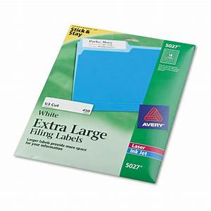 Ave5027 avery x large 1 3 cut file folder labels w for Avery large labels