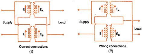 Single Phase Transformer Wiring Connection by Parallel Operation Of Single Phase Transformers