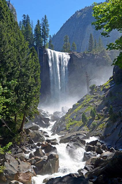 Vernal Falls California Usa Want See This Place