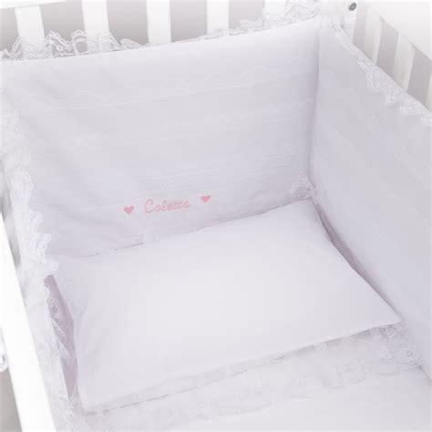 tour de lit b 233 b 233 coton brod 233 blanc table de lit