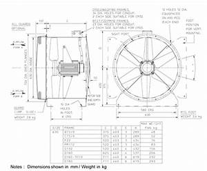 63jm  20  4  6  16  1ph Long Cased Axial Flow Extract Fan By Flakt Woods    Flakt Woods    Dx641453