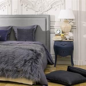 Tete De Lit Lin : t te de lit 180 en lin gris bleu elise maisons du monde ~ Melissatoandfro.com Idées de Décoration