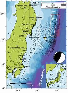 Map Of Northern Honshu Where The 2011 Tohoku Earthquake