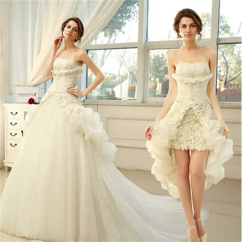 Permalink to Short Wedding Dress With Detachable Train