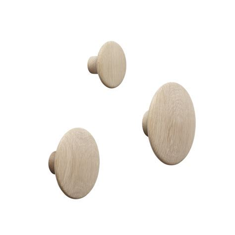 The Dots   Get playful with wooden coat hooks