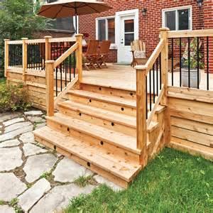 fabriquer un escalier de patio en 233 jardinage et ext 233 rieur pratico pratique