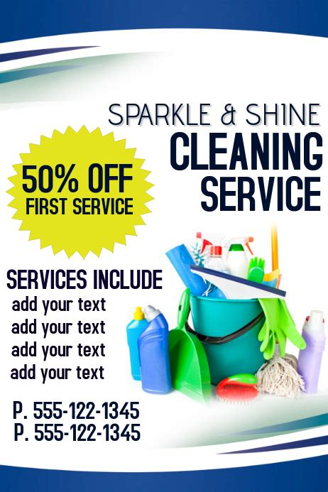 copy  cleaning service postermywall