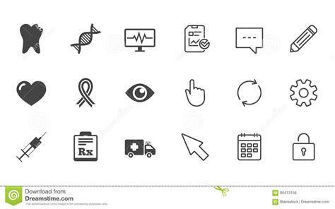 Medicine, Healthcare And Diagnosis Icons. Stock Vector