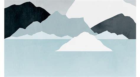 minimalistic mountain painting minimal abstract