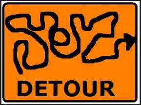 Image result for images of detour signs