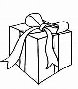 Gift Coloring Box Christmas Pages Boxes Present Presents Getcoloringpages sketch template
