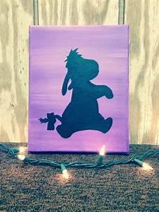 8 U0026 39  U0026 39 X 10 U0026 39  U0026 39  Eeyore Canvas Painting Silhouette By