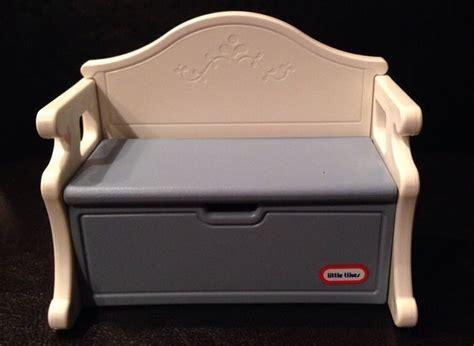 vintage  tikes grand mansion blue victorian toy box