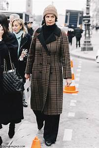 Coat tumblr fashion week 2017 fashion week street style streetstyle printed coat tartan ...