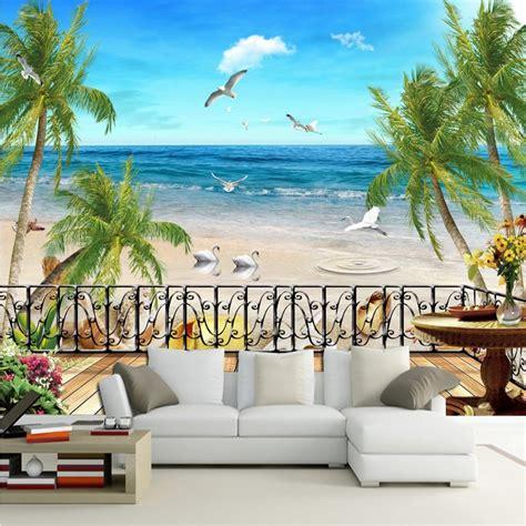 custom  photo wallpaper natural landscape beach sea view