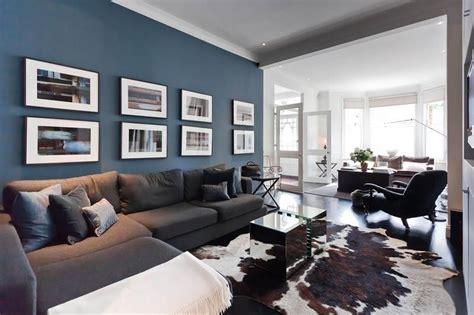 blue feature wall living room ideas  pinterest