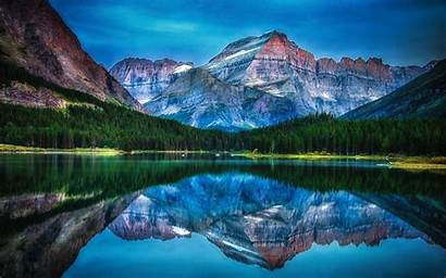 Montana Mountain Lake National Park Sunrise Landscape
