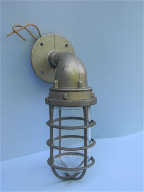 vintage killark industrial light fixture wall mount