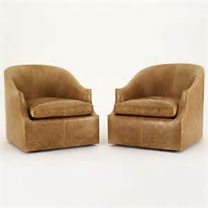 Leather Reclining Club Chair by Eos Floating Barrel Chair Transitional Mid Century