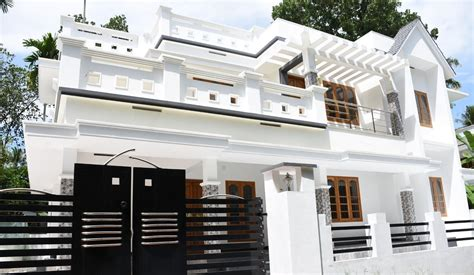 two house plans with front porch kalady 6 cents plot and 2200 sq ft beautiful house for