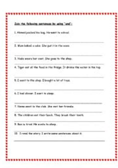 English Worksheets Conjunctions Worksheets, Page 5
