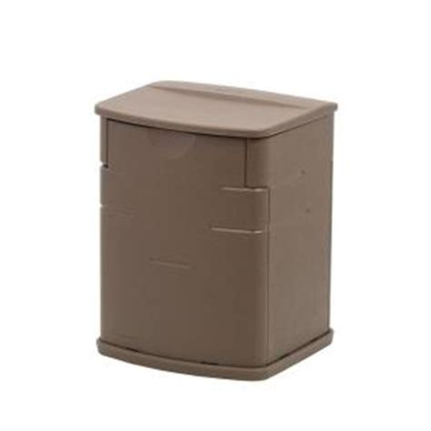 Rubbermaid Deck Box Home Hardware by Rubbermaid 19 Gal Resin Deck Box 1828823 The Home Depot
