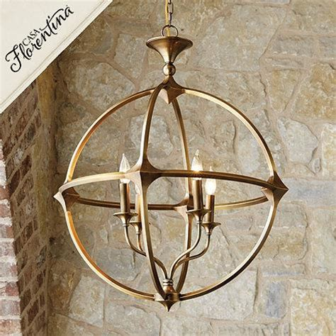 casa florentina lando orb 4 light brass chandelier
