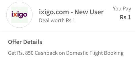 Get Rs. 850 Cash Back On Domestic Flight Booking