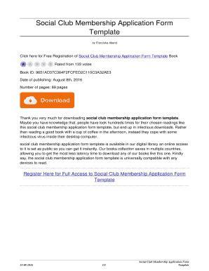 editable social club membership application form template