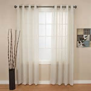 northcrest ellison sheer window panel with grommet 52 quot w