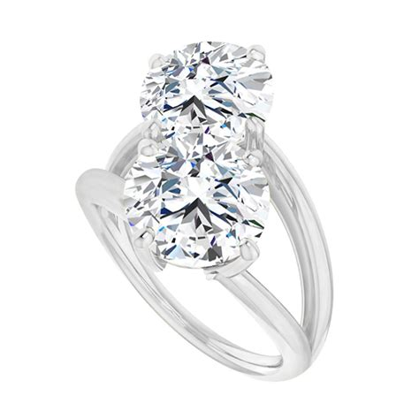 April Birthstone Cz Two Stone Bypass Ring White Gold  Tanga. 1000 Dollar Engagement Rings. Good Rings. Low Rings. Baby Boy Engagement Rings. Hammered Rings. Precious Wedding Rings. Kays Engagement Rings. Eclectic Engagement Rings