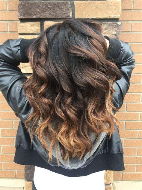 hair  atstevieann ombre balayage brunette bronde