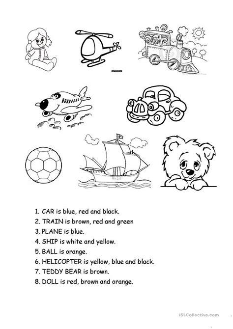 esl toys worksheets