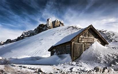 Winter Desktop Mountains Wallpapers Nature Mountain